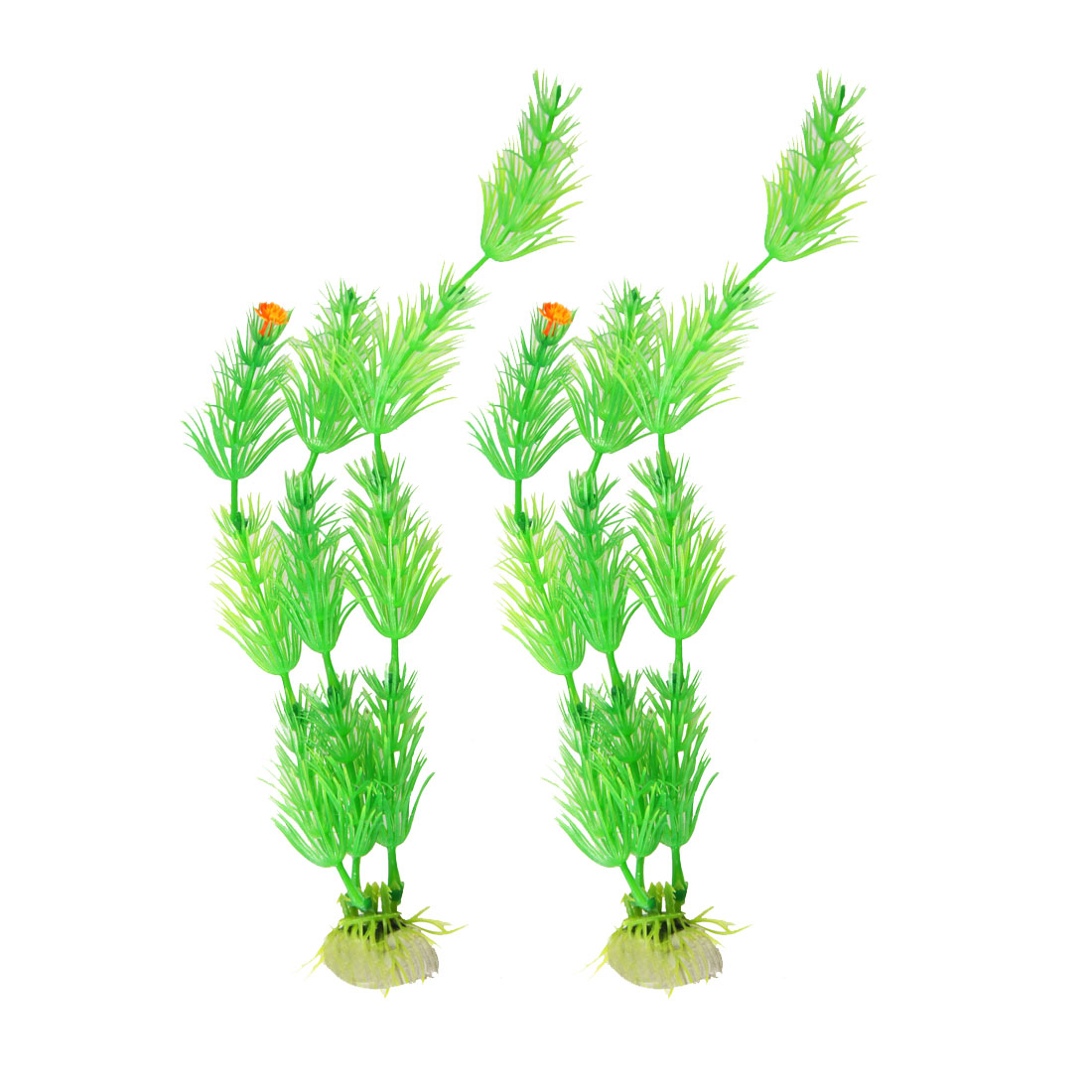 "10"" High Green Manmade Water Plant Grass 2 Pcs for Fish Tank Aquarium"