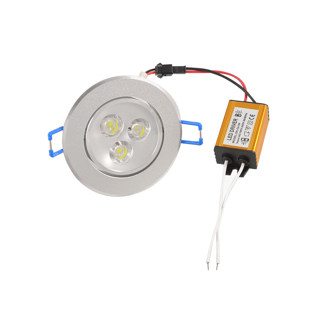 AC 185V-265V 3W Round 3 White LEDs Recessed Ceiling Lamp Downlight