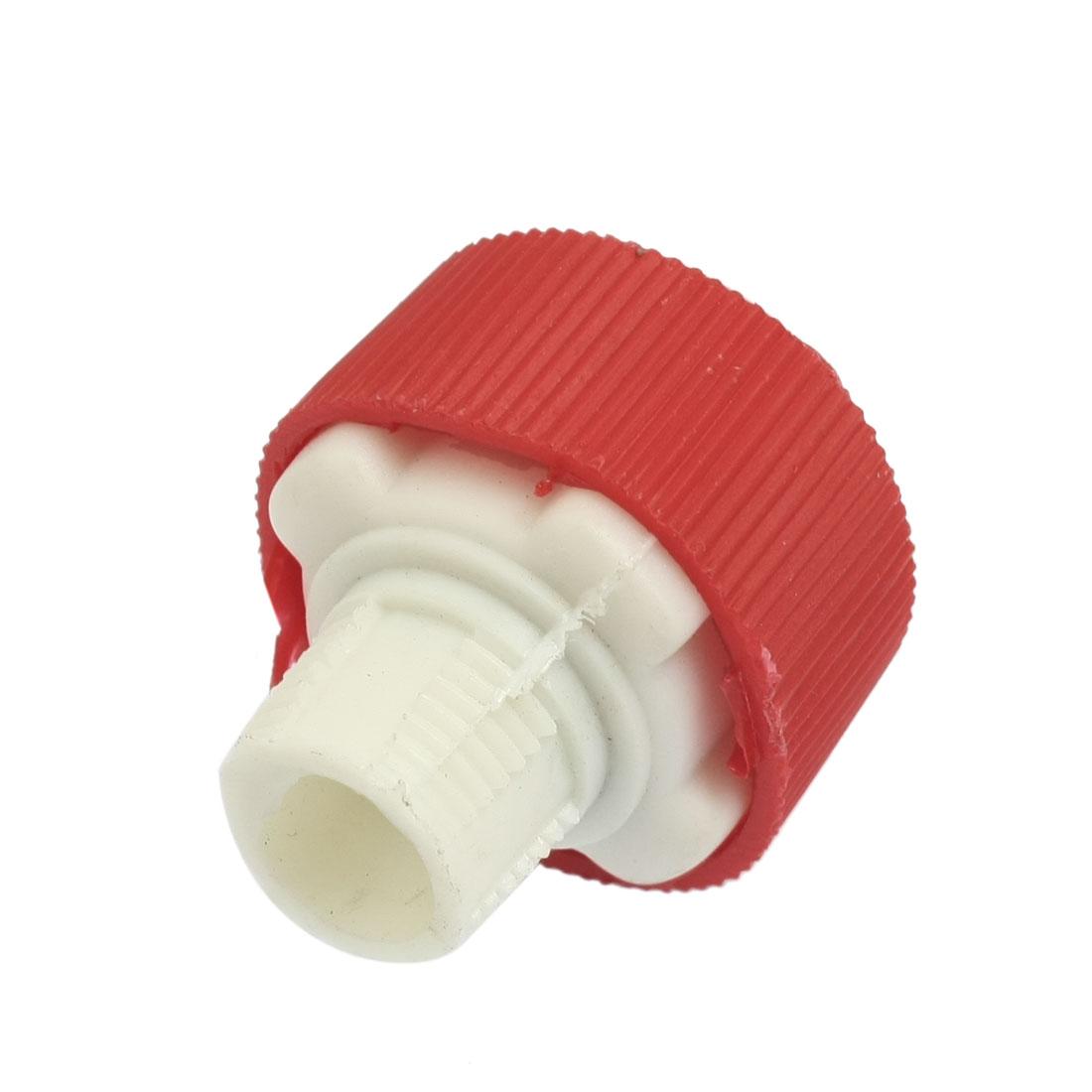 "Red White Plastic Air Exhaust Pneumatic Muffler Filter 1/2"" NPT Thread"