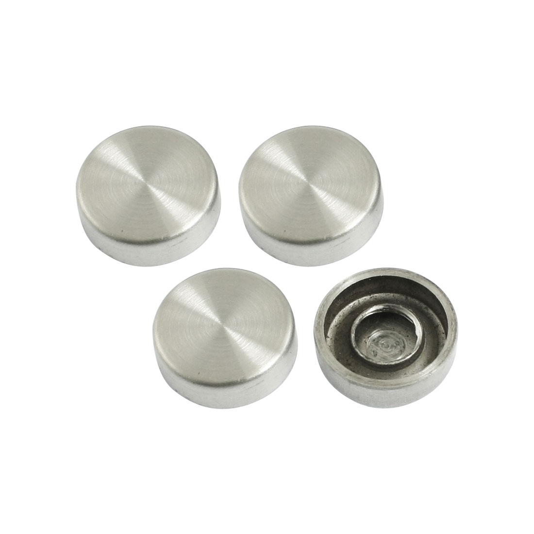 4Pcs Fitting Parts Stainless Steel 16mm Diameter Screw Cap Mirror Nails