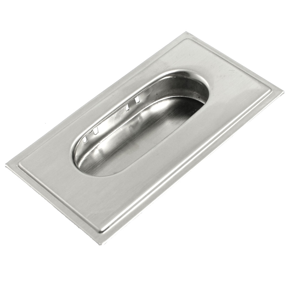 "Concealed Screw Fix Stainless Steel Flush Pull Handle 3.1"" Long"