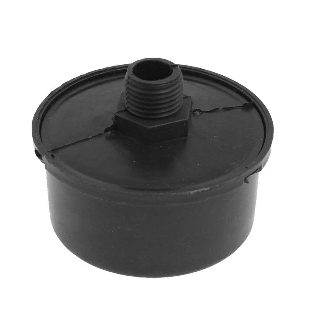 "3/8"" PT Male Thread Black Plastic Air Compressor Filter Silencer"