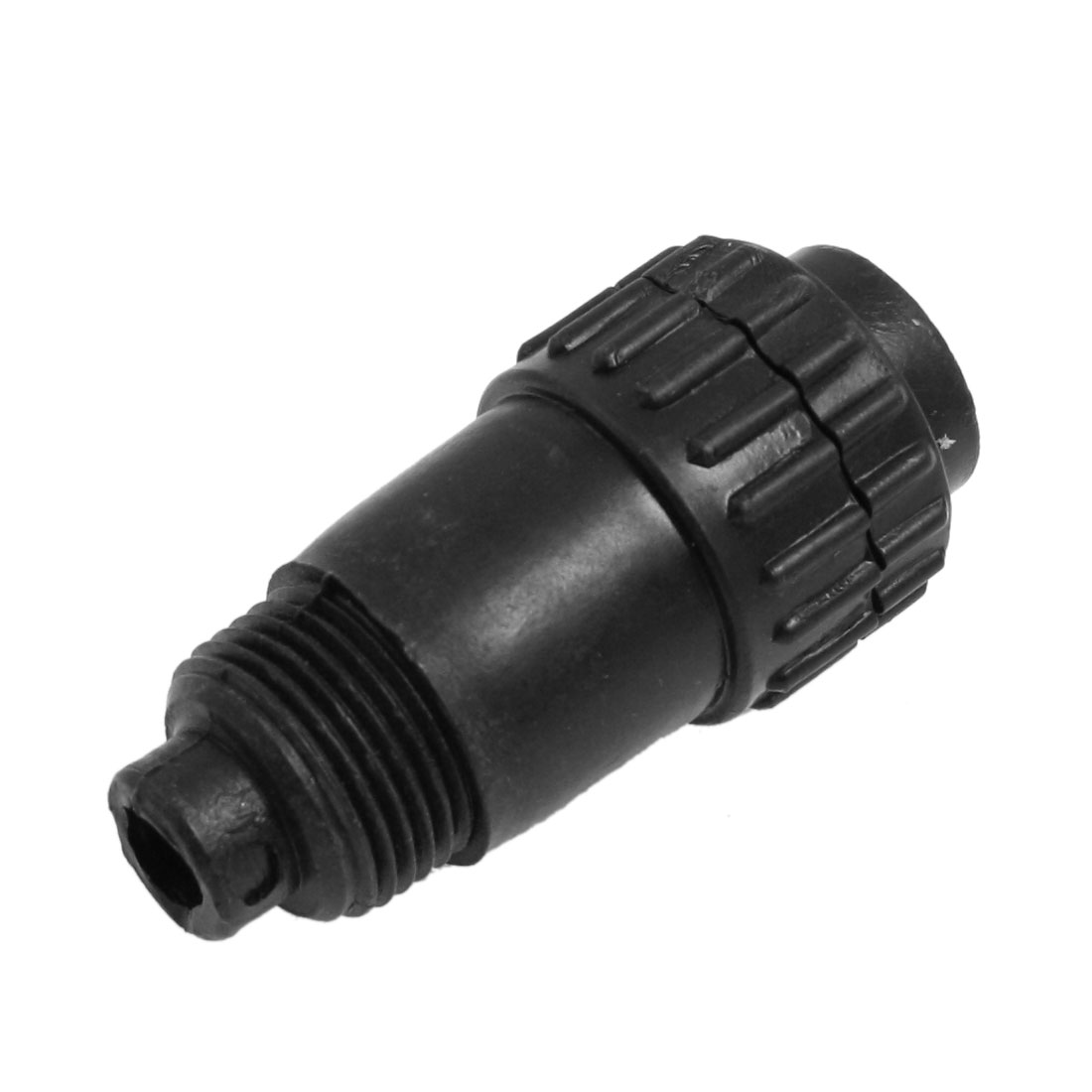 "Black Plastic Air Exhaust Pneumatic Muffler Filter 1/2"" NPT Thread"