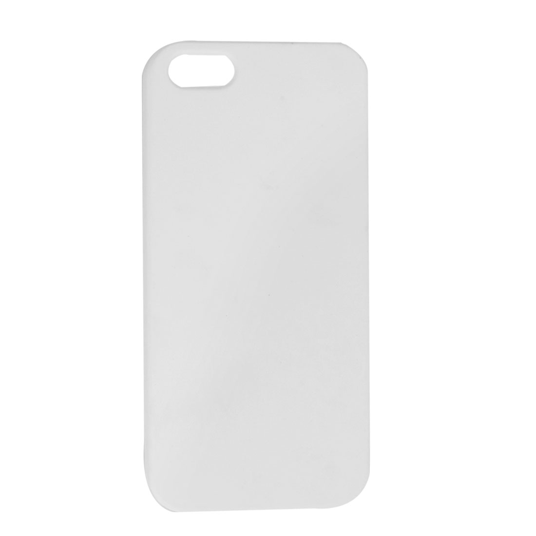 White Hard Plastic Protective Back Case for iPhone 5 5G