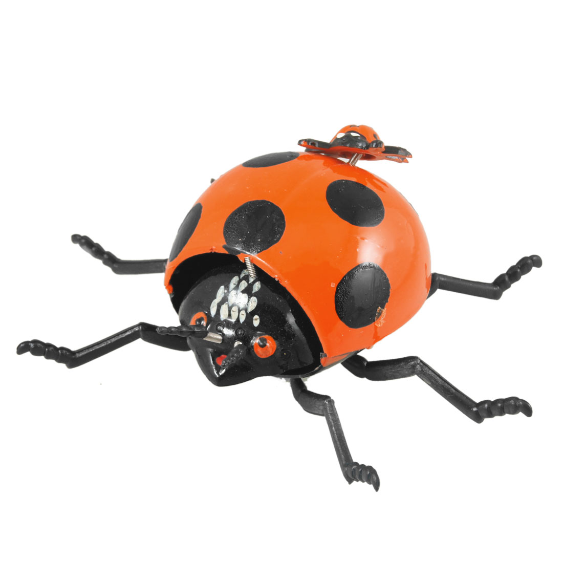 Fridge Refrigerator Ornament Ladybird Shape Magnetic Stickers Orange Black