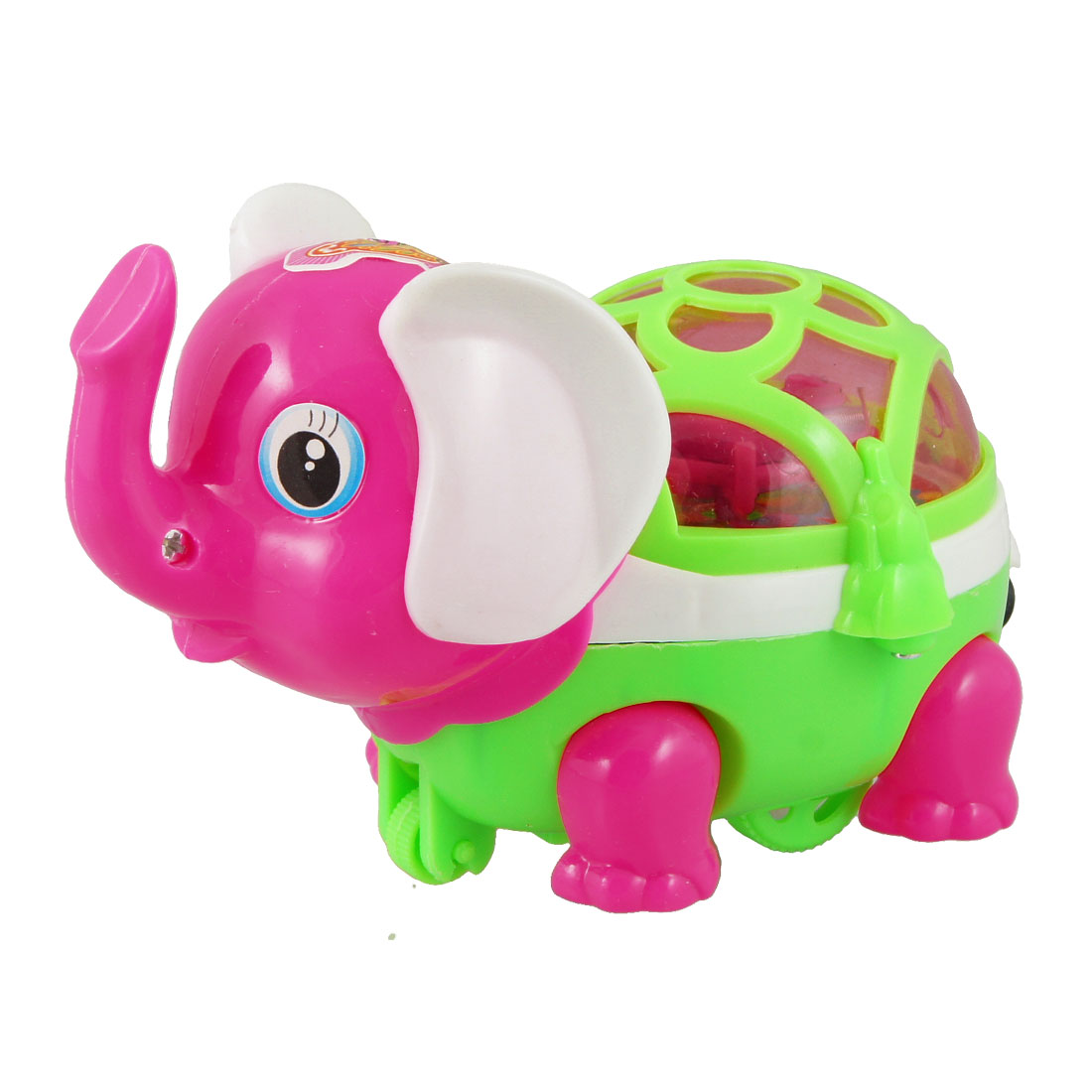 Red Light Green Pink Cartoon Elephant Design Pull String Toy for Children