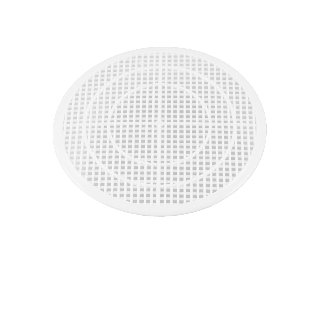 White Plastic 12cm Dia Sink Floor Drain Screen Hair Filtering Sticker
