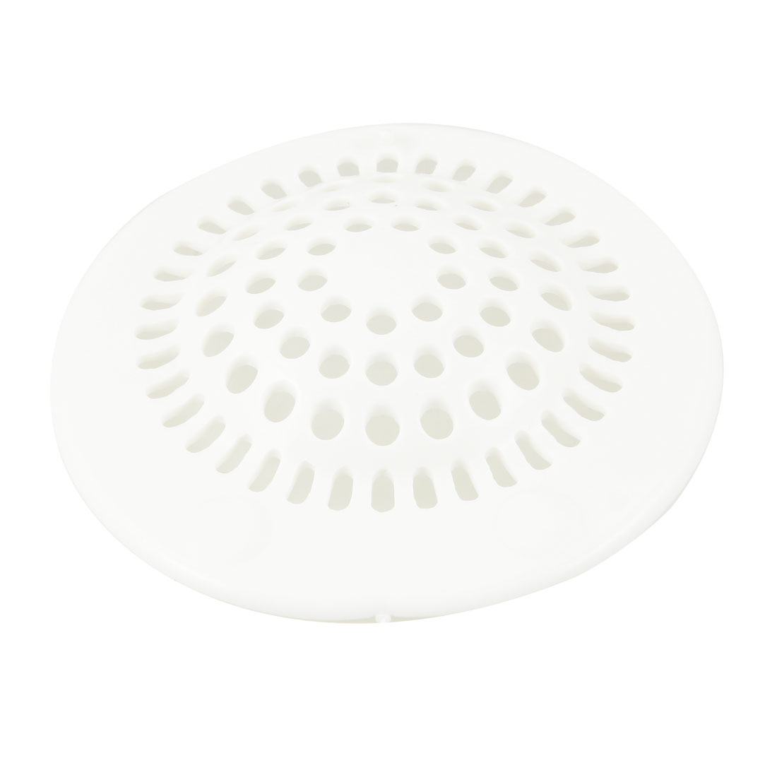 Bathroom 3.9 Inch Sink Floor Drain Screen Hair Filtering Sticker White