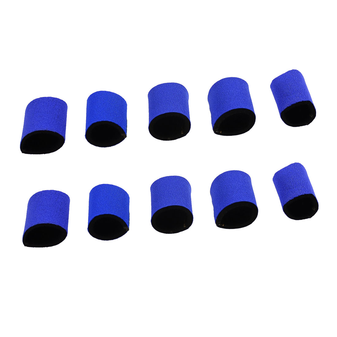 10 Pcs Volleyball Sports Neoprene Finger Sleeve Cover Blue