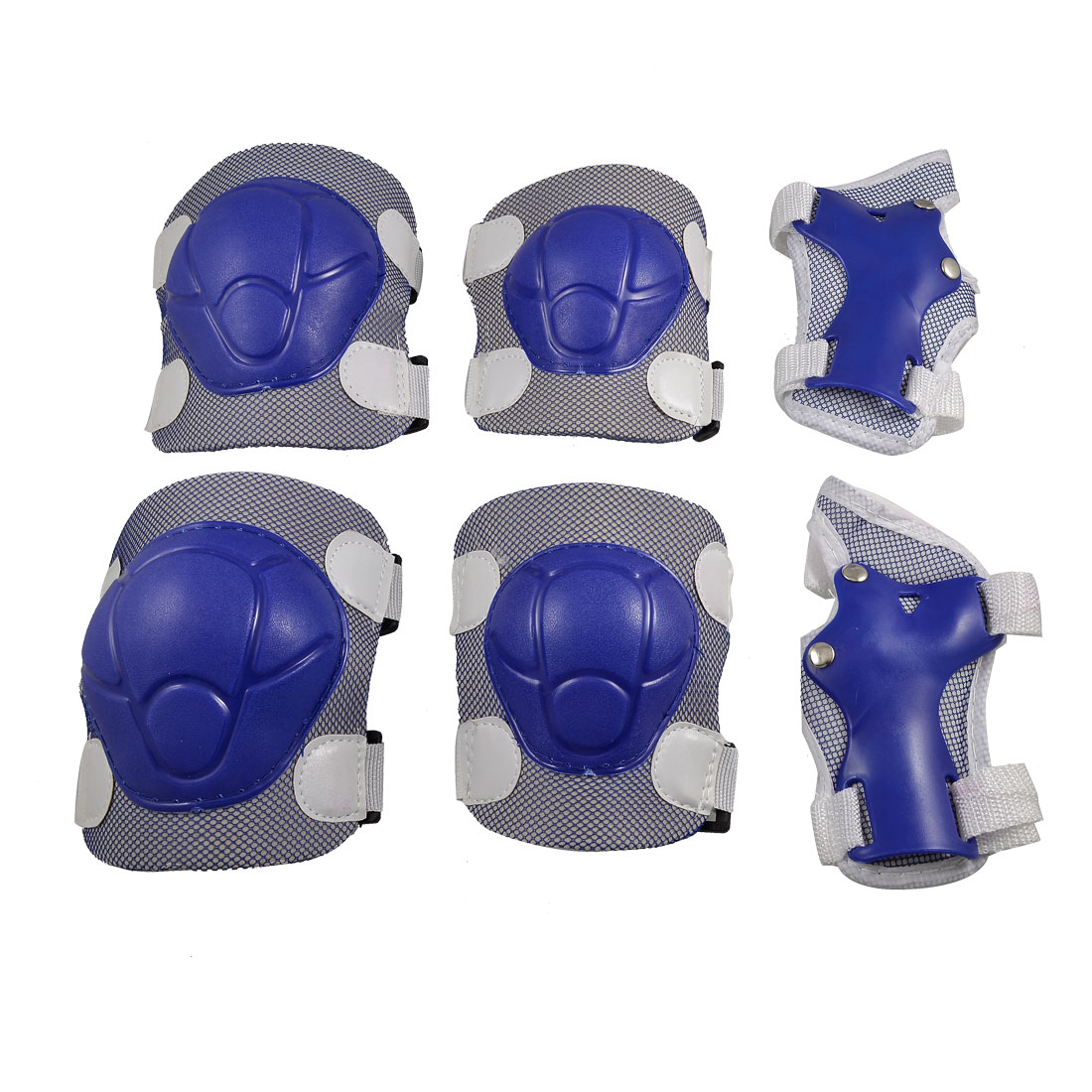 Set Children Skating Protection Palm Elbow Knee Support Shield Guard Blue