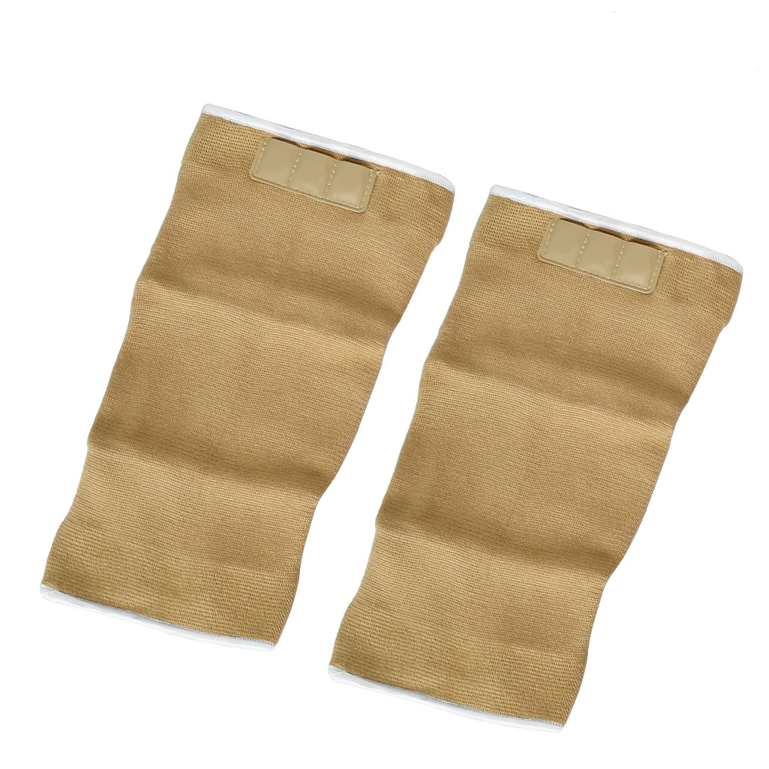 Pair Sports Protecting Elastic Magnetic Knee Support Sleeve Brace Light Brown