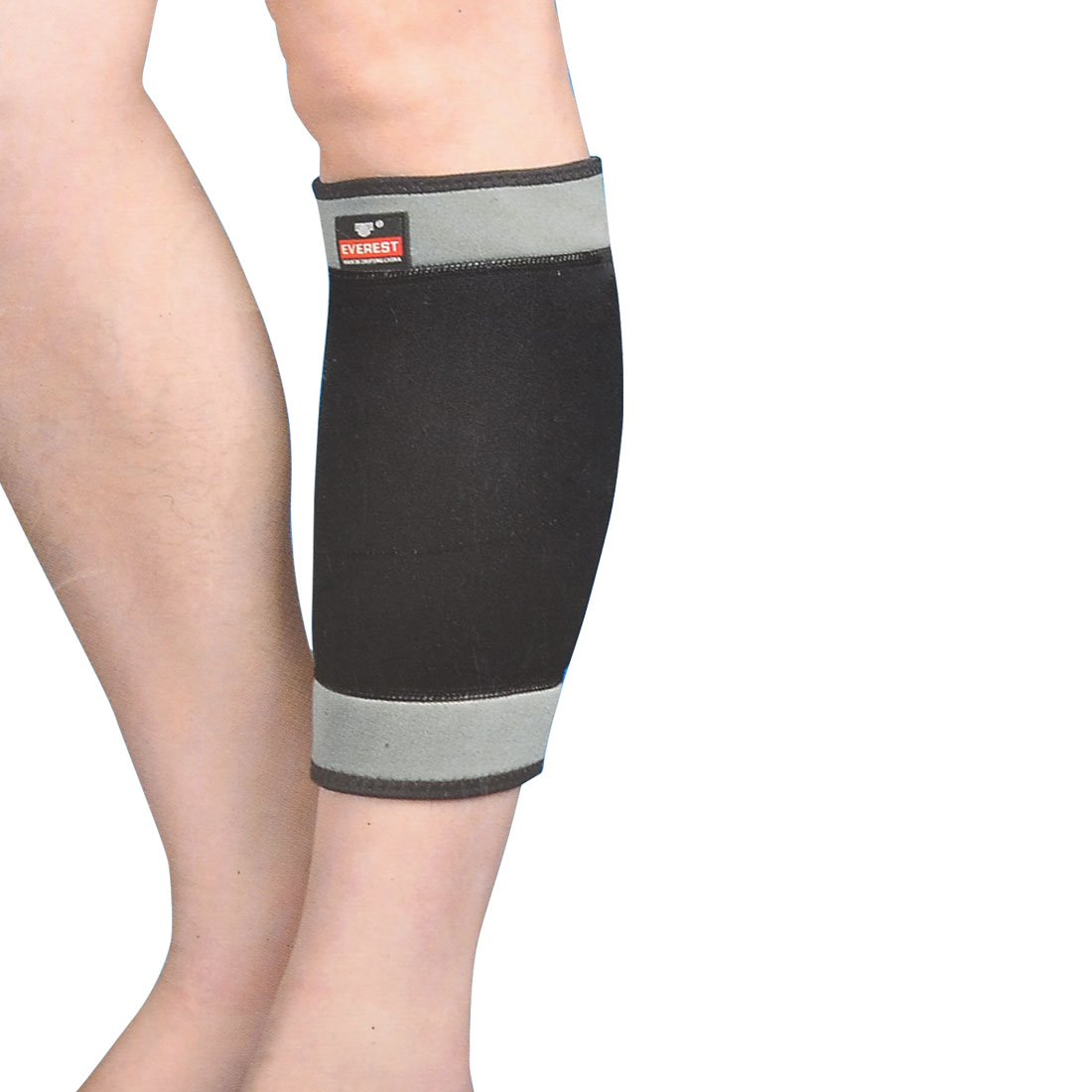 Sports Protective Black Gray Neoprene Elastic Calf Sleeve Support Shield