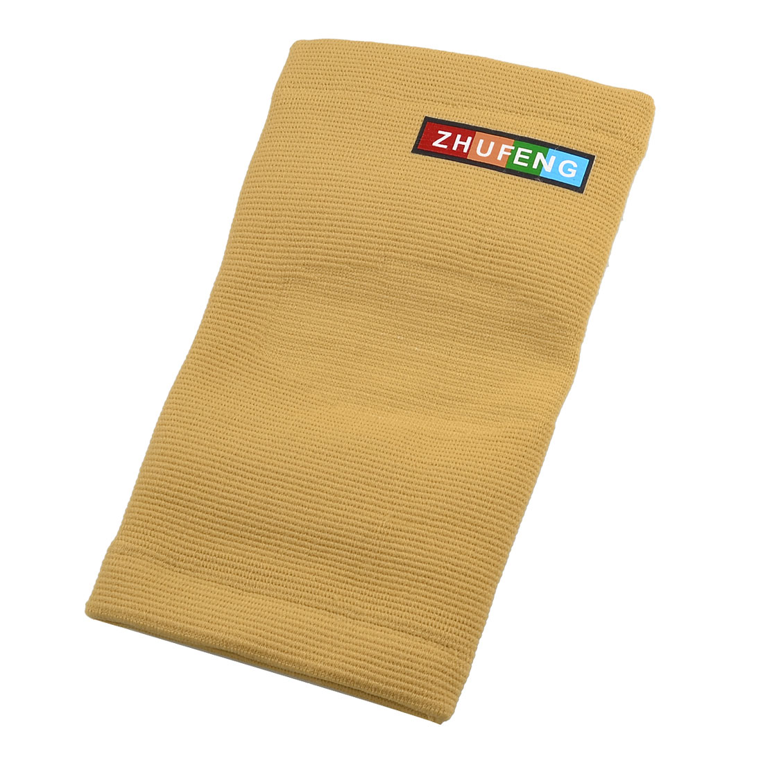 Light Brown Elastic Sports Protecting Elbow Sleeve Support Shield