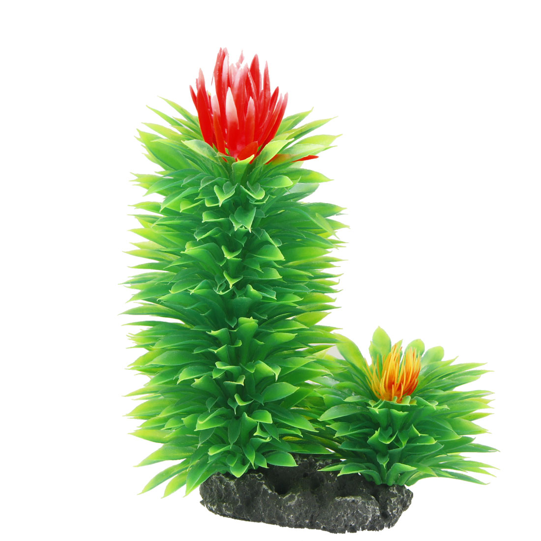 Emulational Plant Grass Aquarium Fish Tank Decor Green Red 6.5""