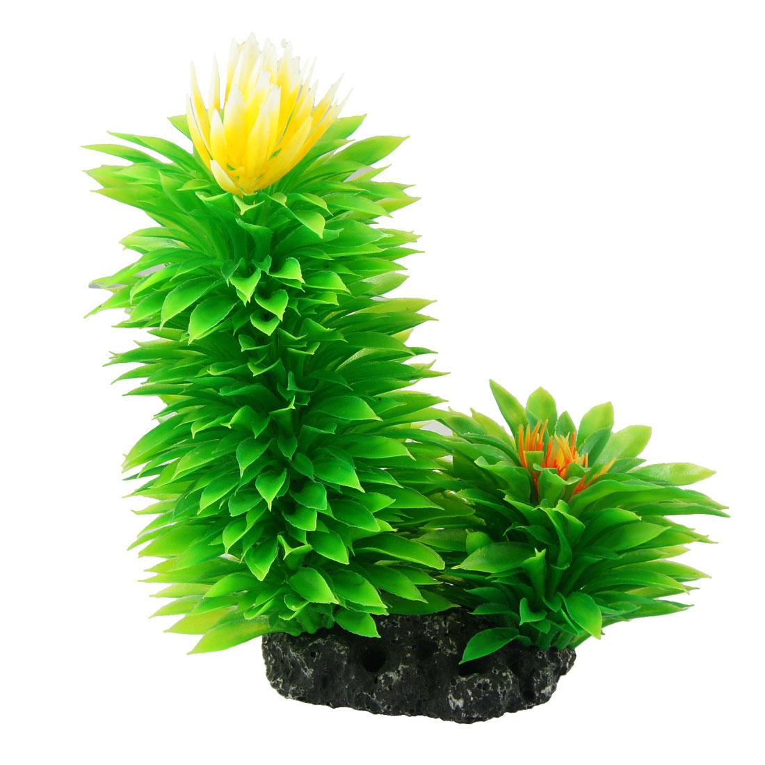 "Aquarium Landscaping Green Yellow Green Leaf Emulational Plants 6.5"""