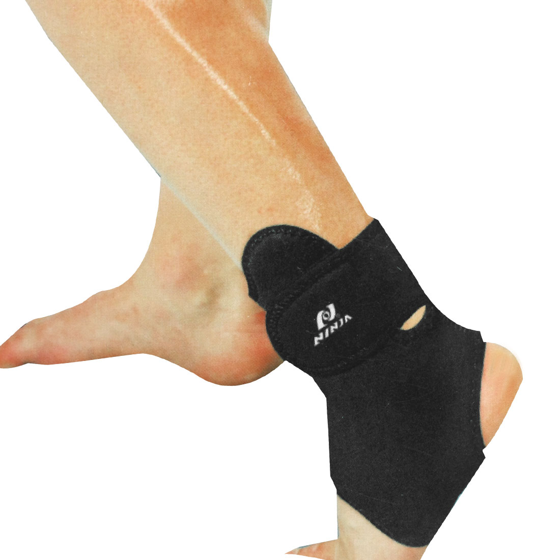 Gym Exercise Black Neoprene Stretchy Guard Ankle Support Brace for Man
