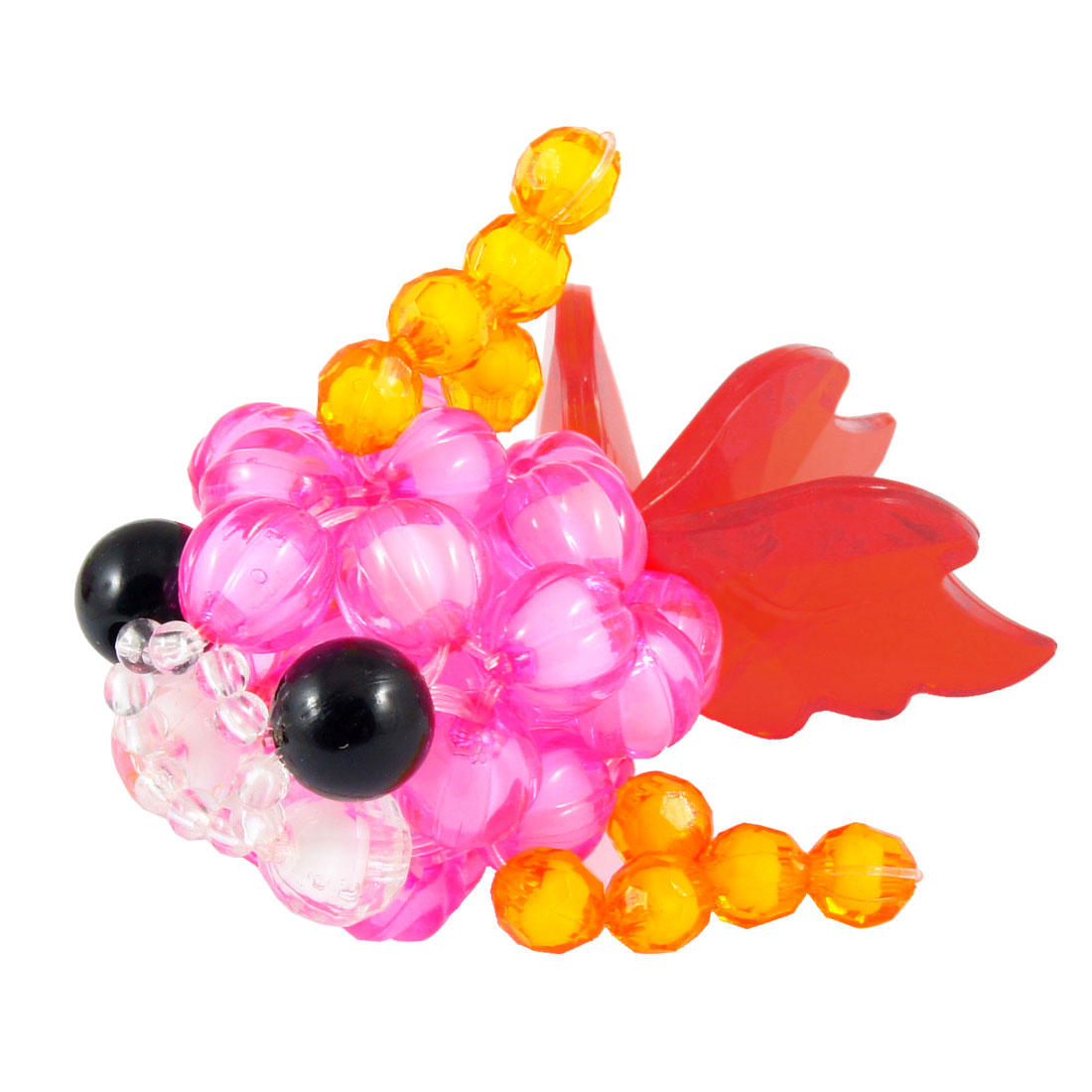 Crystal Beads Fuchsia Body Red Fishtail Beaded Fish Goldfish Craft