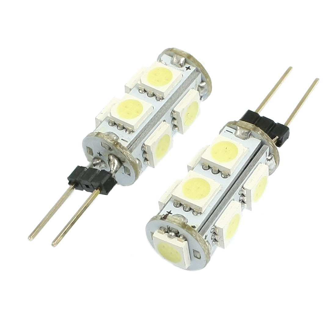 2 Pcs Vertical Pin G4 White 5050 SMD 9 LED Bulb Light Dashboard Lamp
