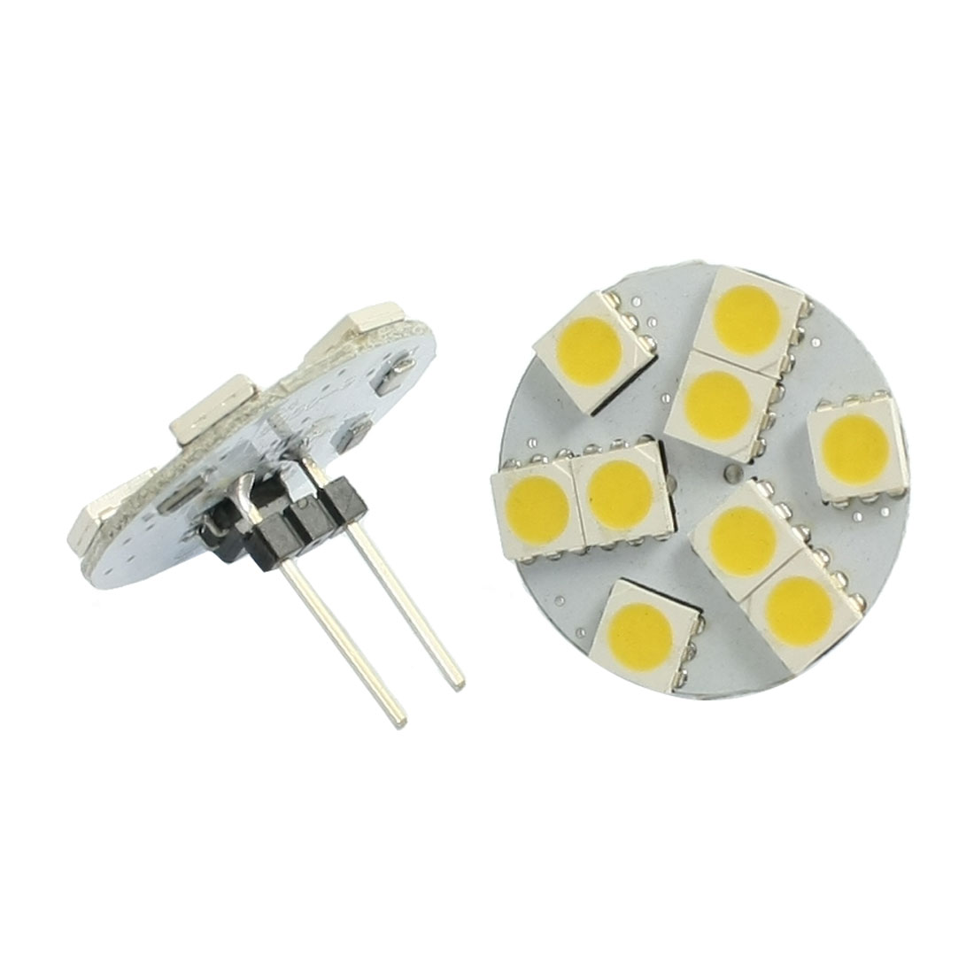 2 x Vertical Pin G4 Warm White 5050 SMD 9-LED Bulb Light Dashboard Lamp