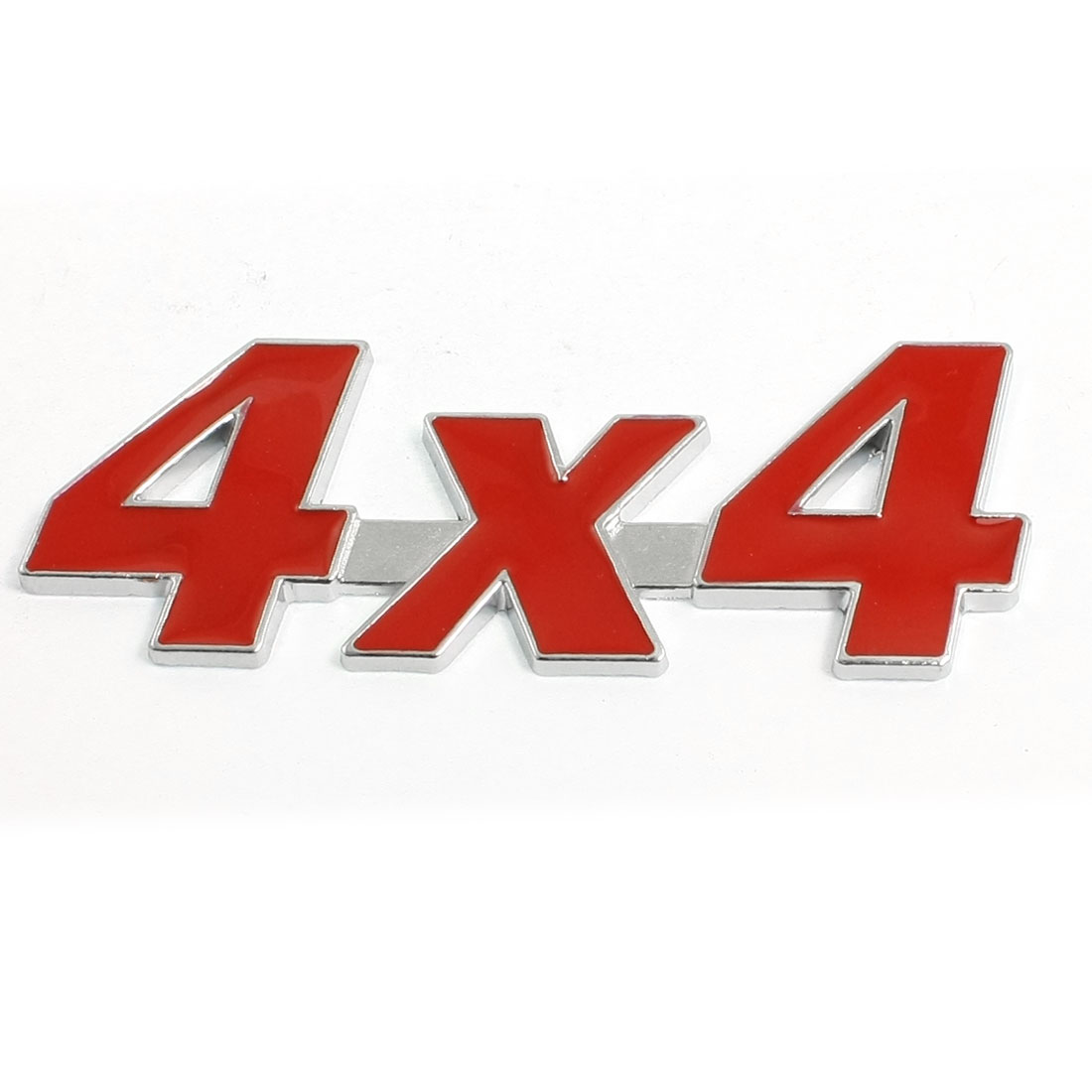 Red Metal 4X4 Pattern Decorative Car Badge Sticker Emblem Decor