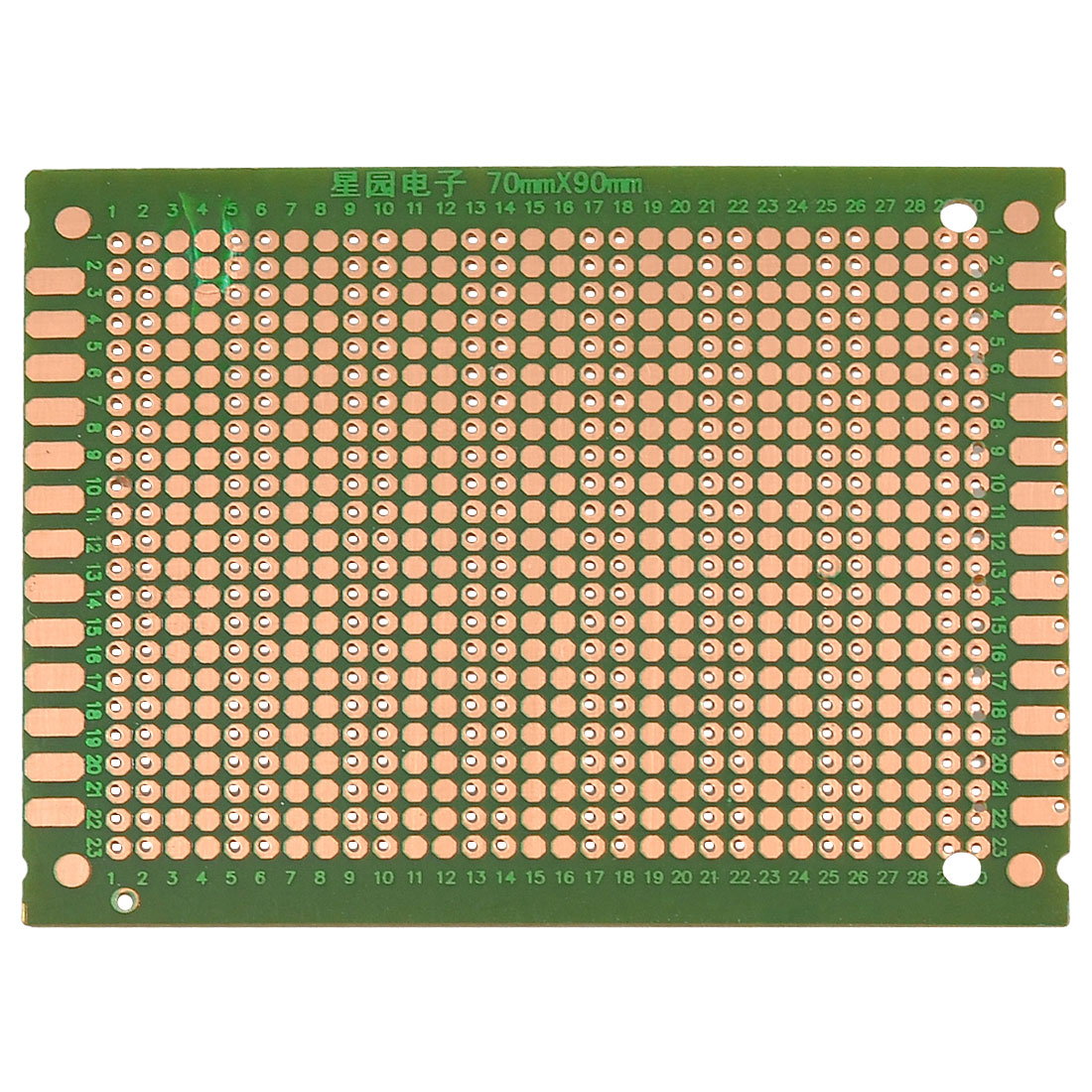 Copper Prototyping PCB Circuit Board Stripboard 70x90mm