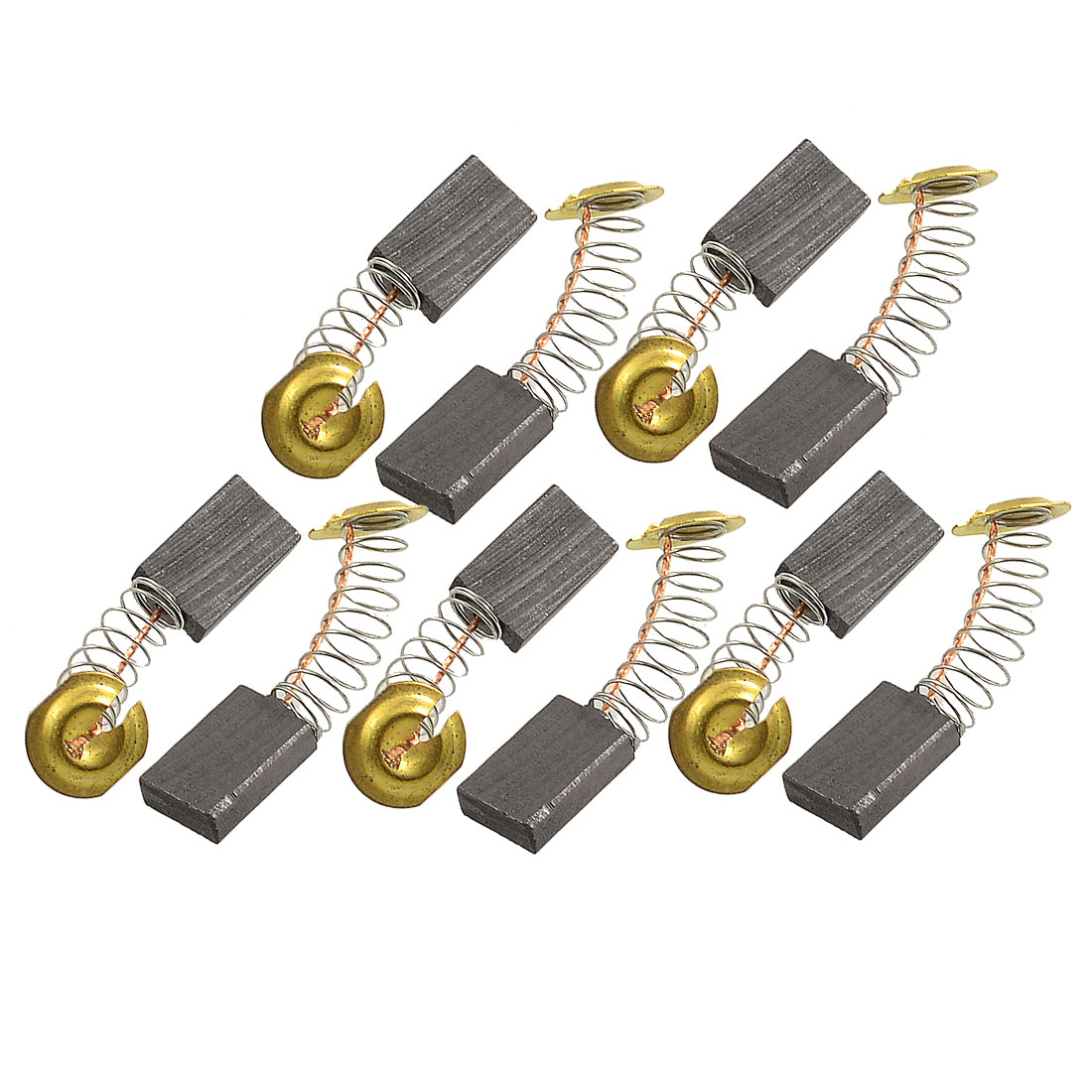 "10 Pcs Electric Motor Spring Carbon Brushes 0.67"" x 0.43"" x 0.2"""