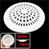 "Bathroom 3.9"" Sink Floor Drain Screen Hair Filtering Sticker White"