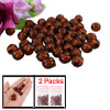 2 Packs DIY Jewelry Dark Brown Plastic 12mm Fluted Round Melon Beads Bulk