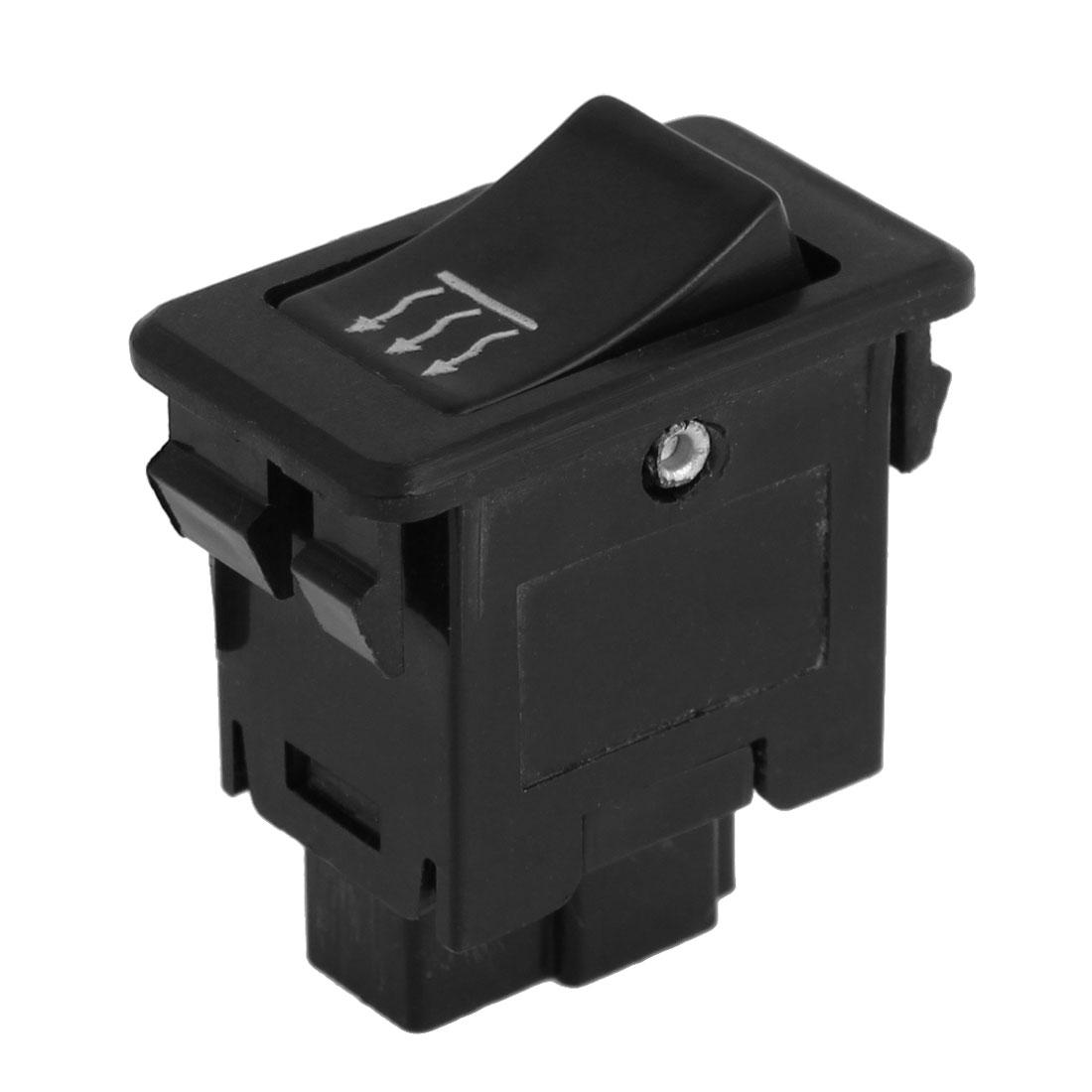 Car Automobile 3 Pin SPST Plastic Window Lifter Regulator Switch Black
