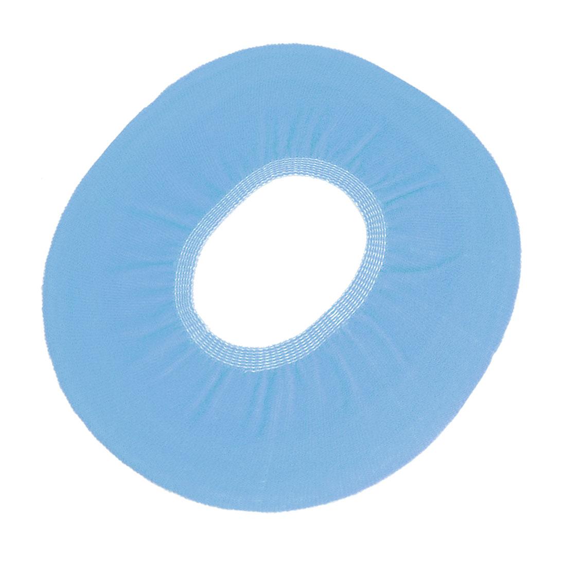 Bathroom Closestool Seat Lid Cover Warmer Fleece Pad Light Blue