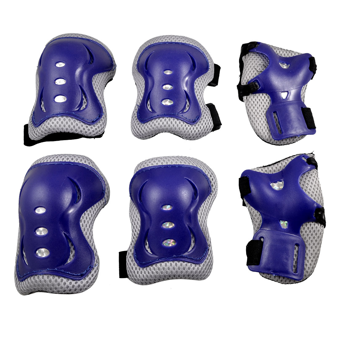 Skating Gear Blue Knee Elbow Pads Wrist Protector Set for Children Kids