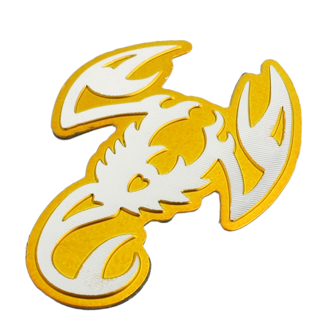 Gold Tone Scorpion Shape Adhesive Sticker Decal for Automobile