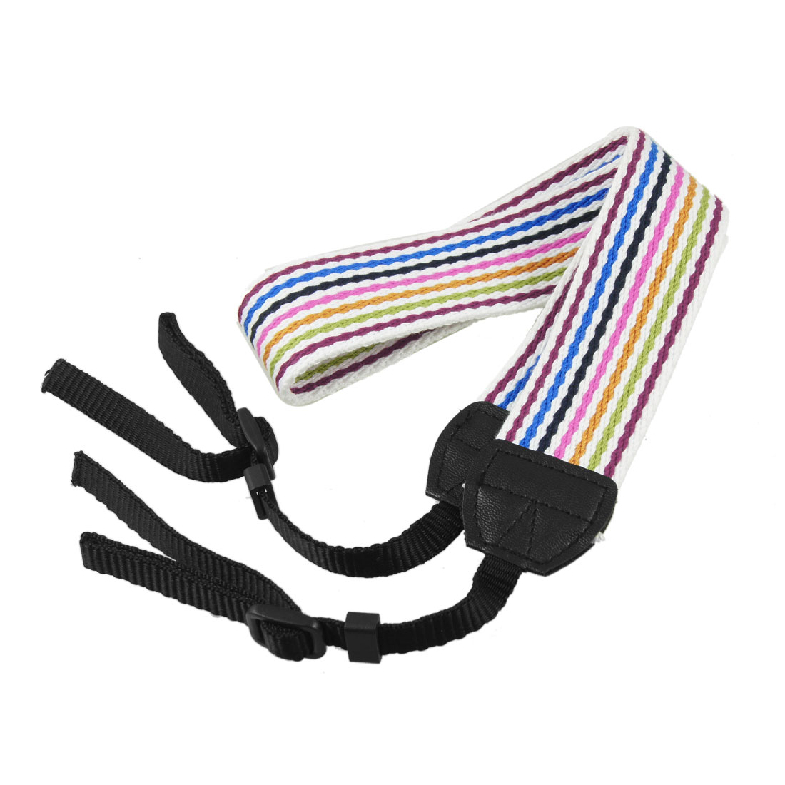 Digital Camera White Striped Shoulder Neoprene Antislip Strap