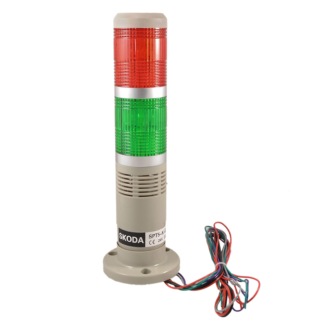 DC 24V Red Green Industrial Signal Tower Lamp Flash Warning Stack Light