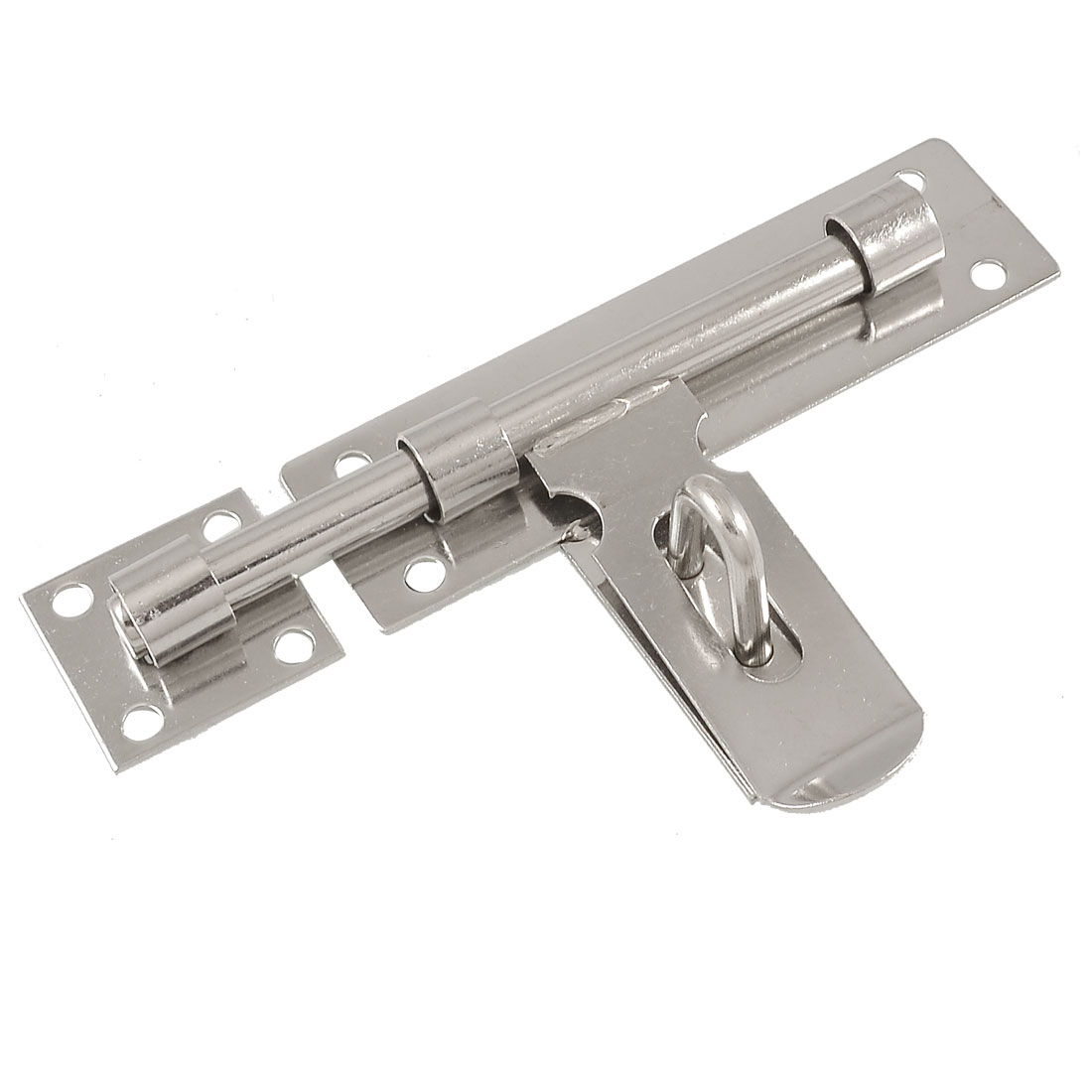 Home Gate Lock Stainless Steel Latch Barrel Bolt Hasp Stapler 6.5""