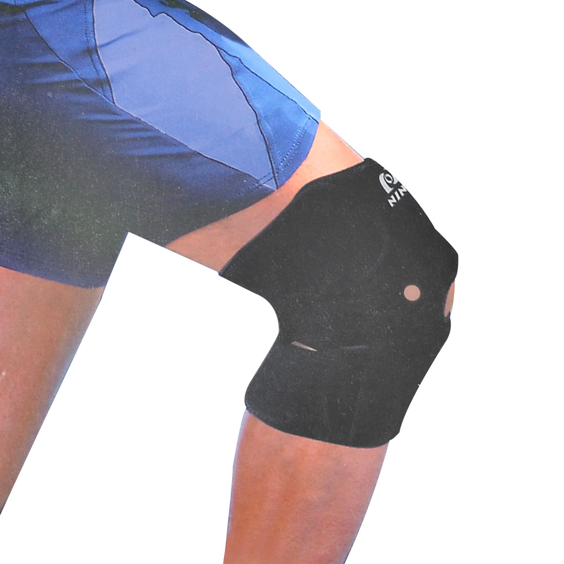 Black Soft Neoprene Detachable Closure Knee Joint Support