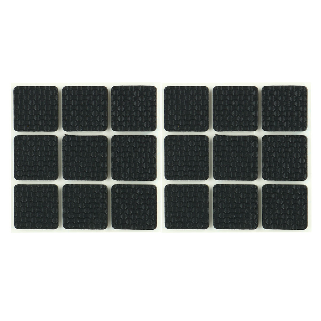 18 Pcs Square Shaped Black Foam Adhesive Protection Pad Mat for Chair Leg