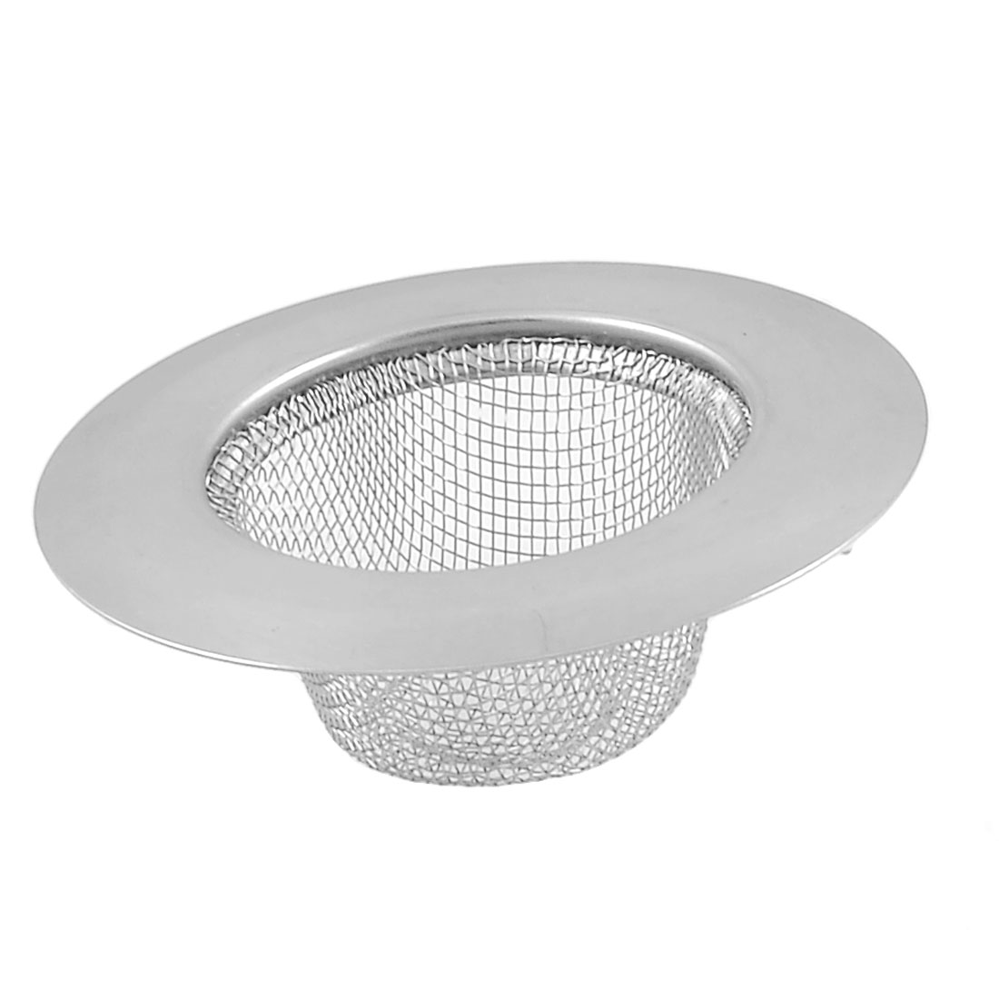 Home Kitchen Silver Tone Stainless Steel 7cm Dia Basin Strainer