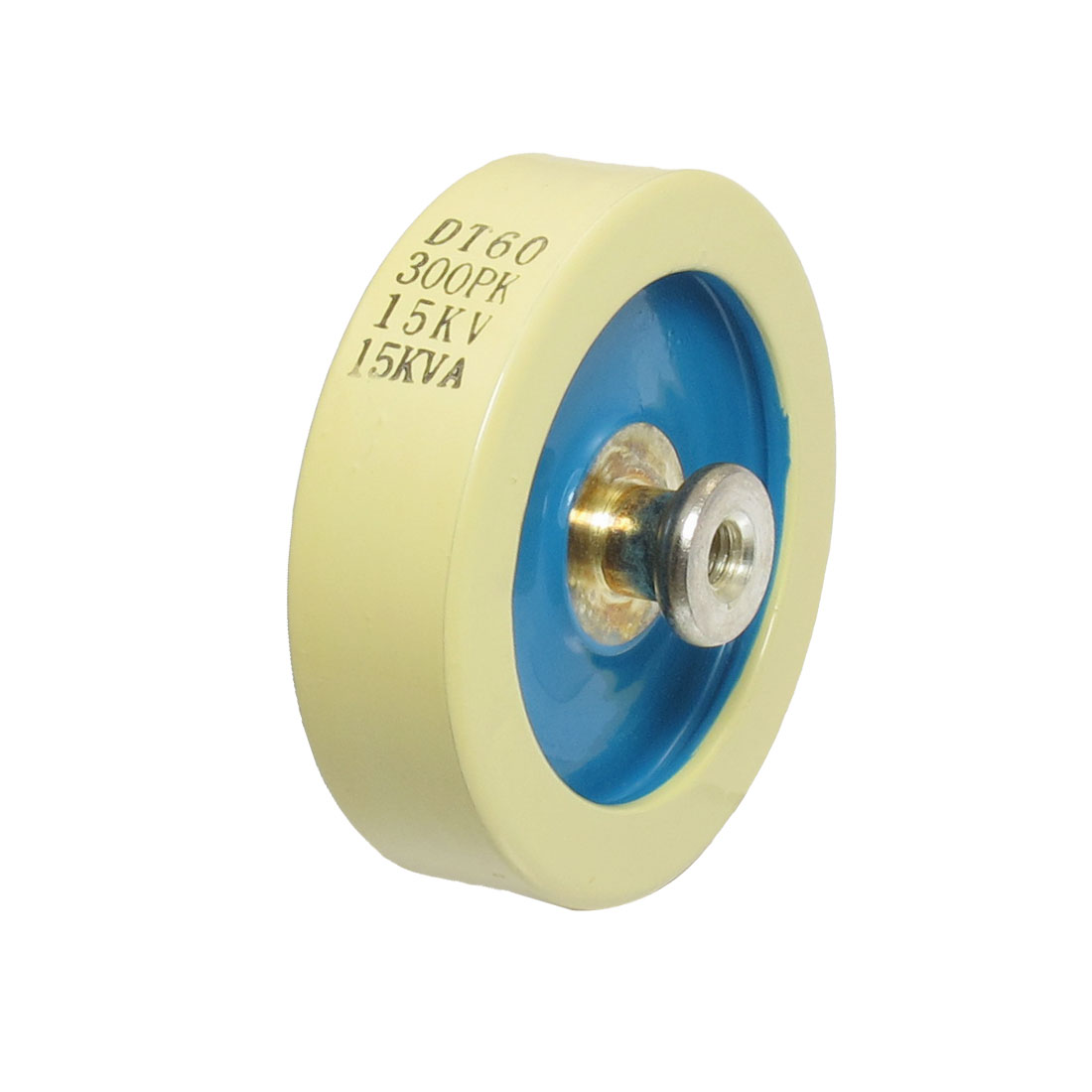 Beige Blue 300PF 15KV 15KVA Door Knob High Voltage HV Ceramic Capacitor