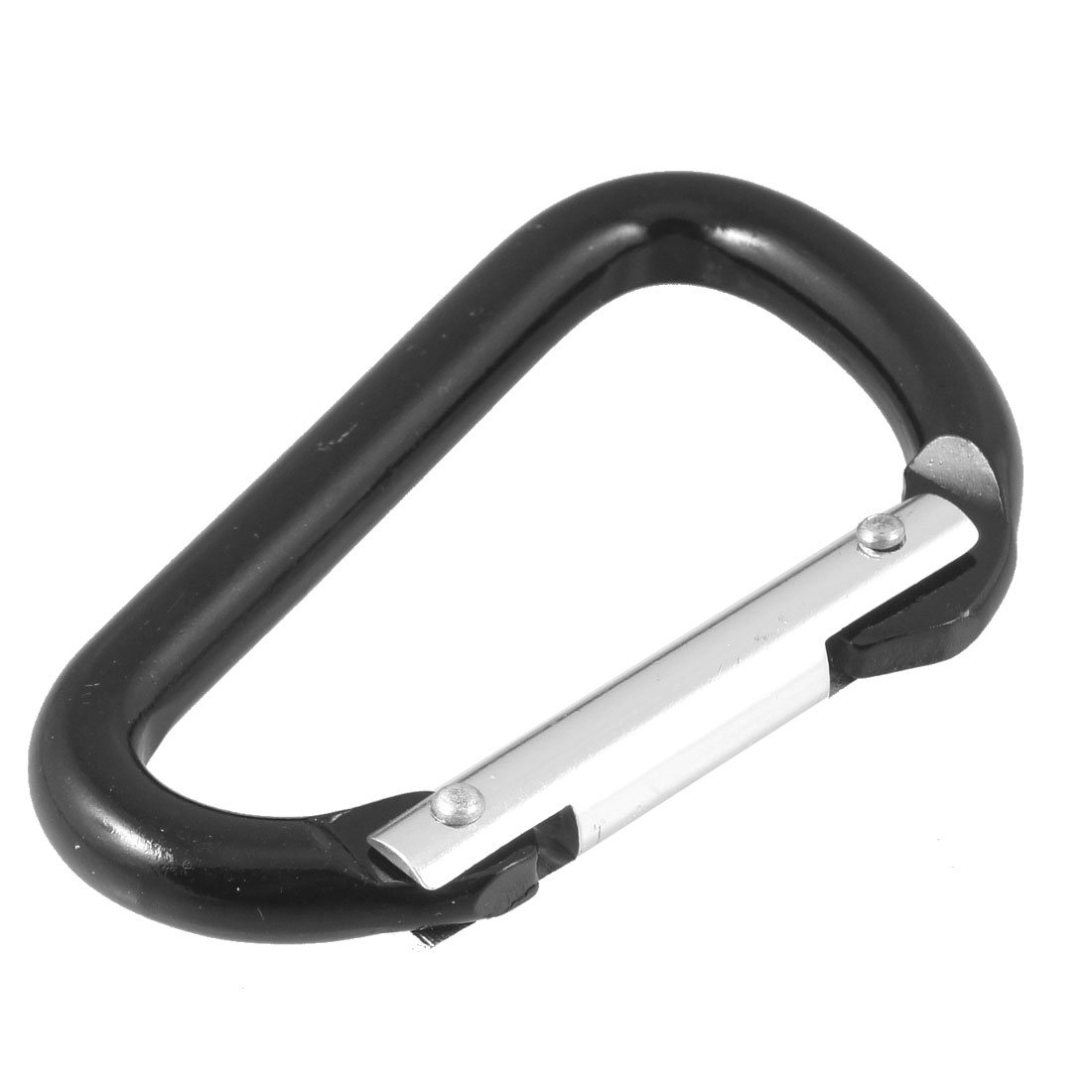"3.7"" Length Black Aluminum Alloy D Shaped Spring Load Gate Carabiners"