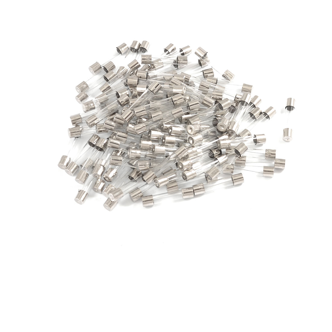 100 x Low Breaking Capacity 6 x 30mm Fast Blow Glass Tube Fuses 8A 250V