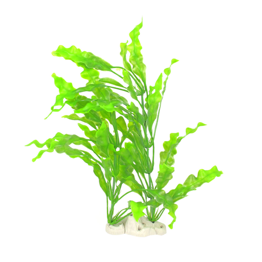 "Aquarium Fish Pet 15.7"" Height Plastic Manmade Underwater Green Plants"