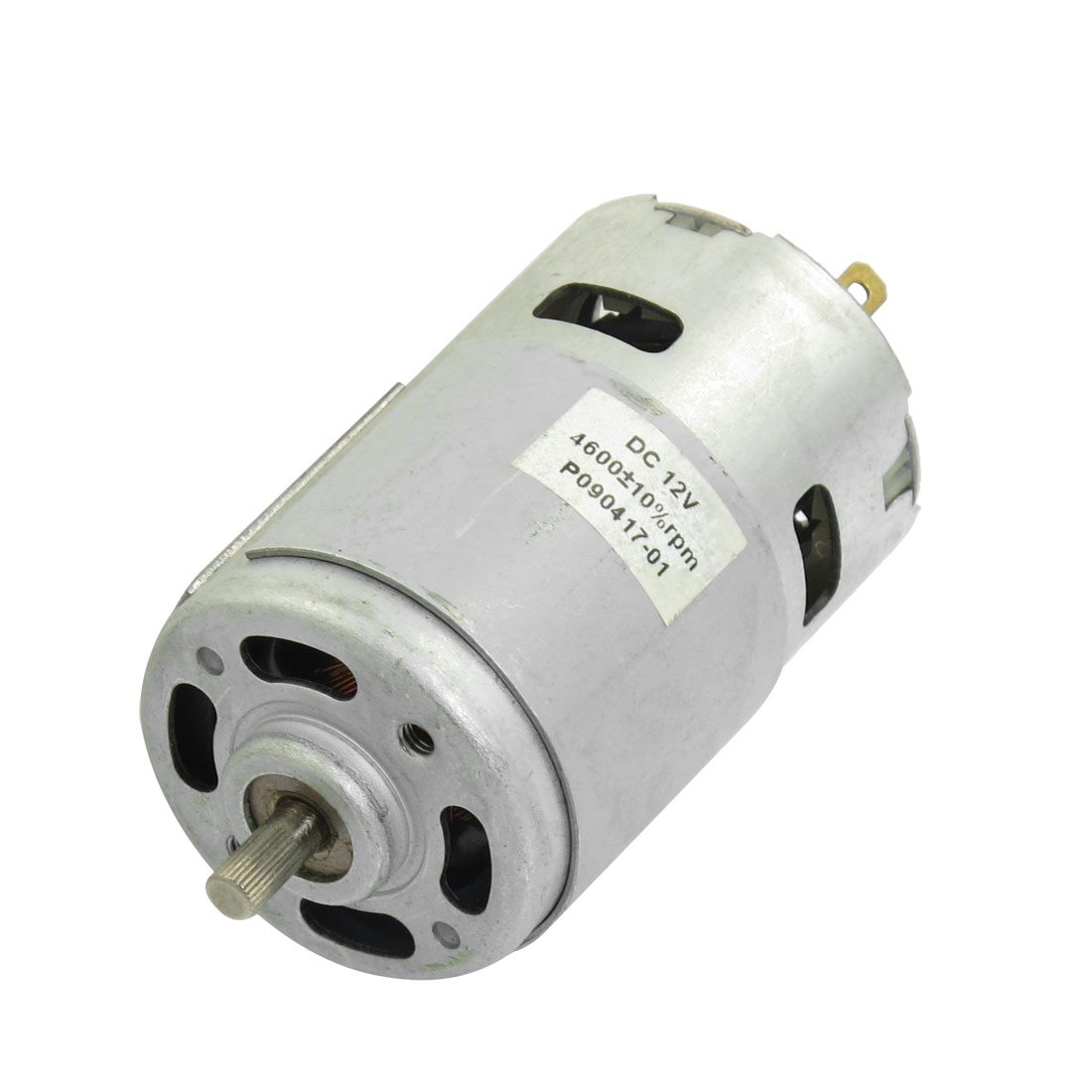 12VDC 4600RPM Rotated Speed Cylinder Shape Magnetic Motor 2 Terminals
