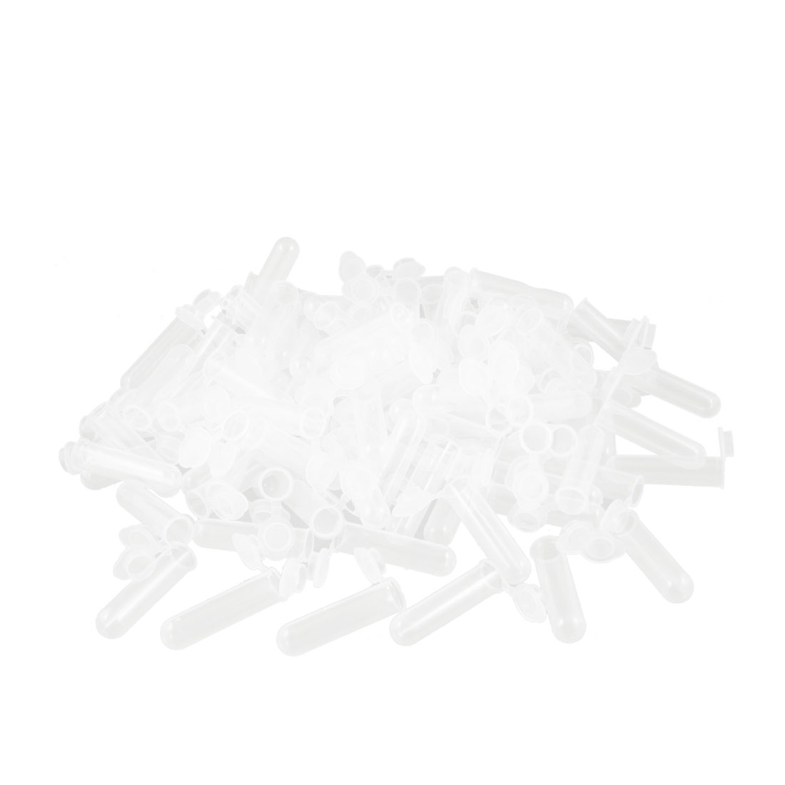 200 Pcs 7ml Round Bottom Centrifuge Tubes w Attached Caps Clear White