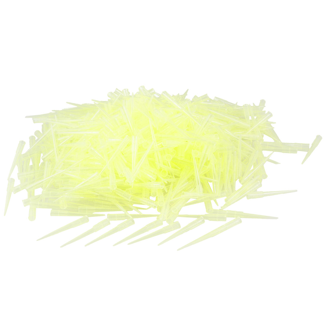Laboratory Clear Yellow 200UL Lab Liquid Pipette Pipettor Tips 1000 Pcs