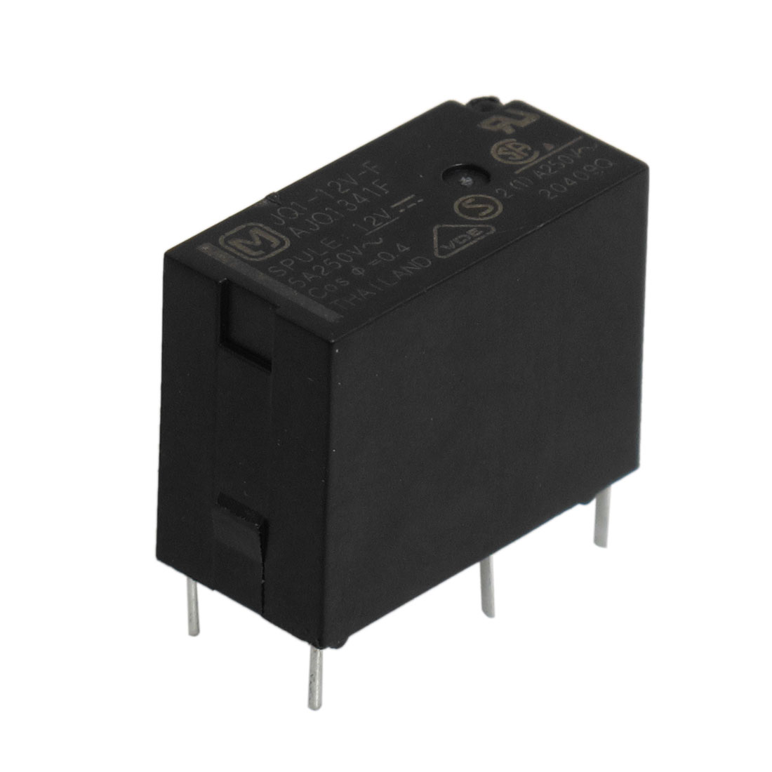 DC 12V Coil Voltage 5 Pins SPDT General Purpose Power Relay Black