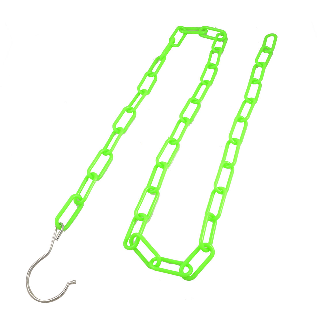 Solid Individually Bright Green Plastic Extension Hanger Chain Clothesline
