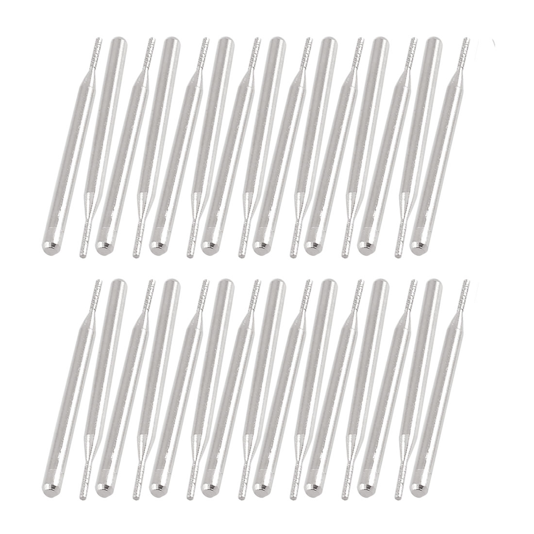 30 Pcs 1.1mm Cylindrical Head 3mm Shank Alloy Diamond Mounted Point Grinding Tool