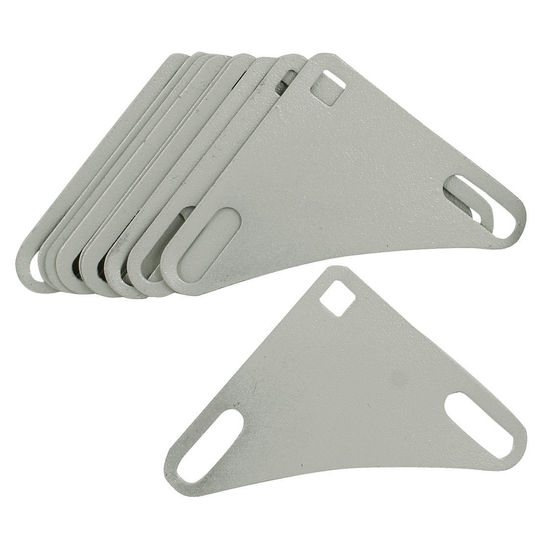 10 Pcs Metal Angle Iron Shelves Triangle Bracket Gasket