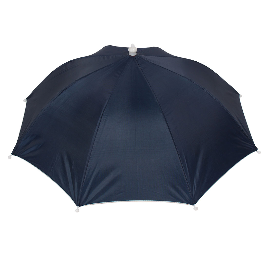 "Outdoor Sports 16.9"" Foldable Navy Blue Nylon Elastic Fishing Umbrella Hat"
